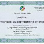 сертификат новый 2 категория