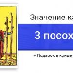 Тройка Посохов (Жезлов) значение в картах Таро