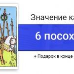 6 Посохов (Жезлов) значение в картах Таро