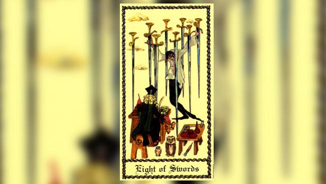 8 Мечей - Medieval Scapini Tarot