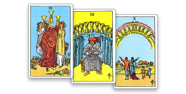 Король Мечей в сочетании с мастью Кубков
