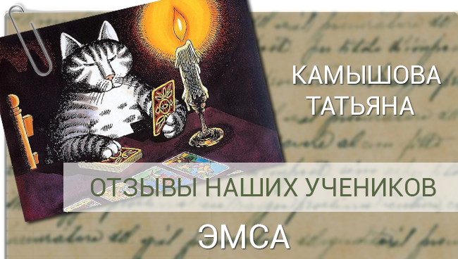 Камышова Татьяна отзыв ЭМСА