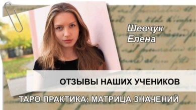 Шевчук Елена отзыв Матрица значений