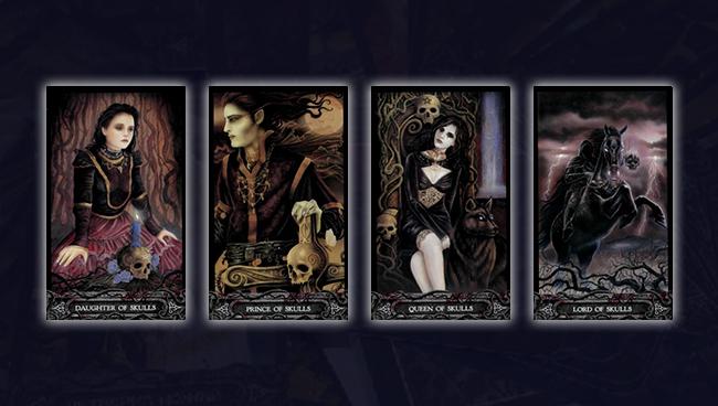 Придворные карты Таро Вампиров Фантасмагория