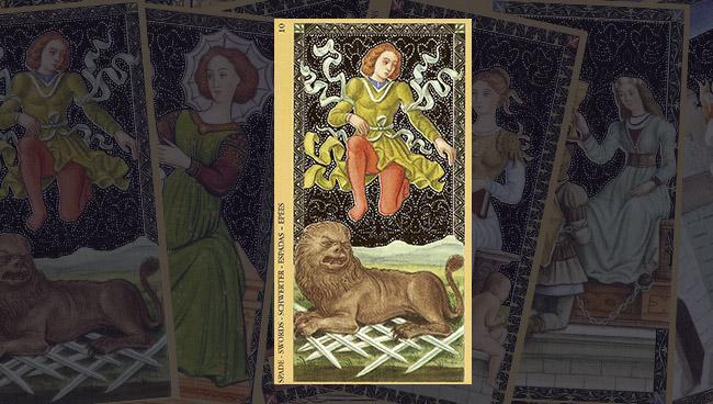 Золотое Флорентийское Таро 10 Мечей