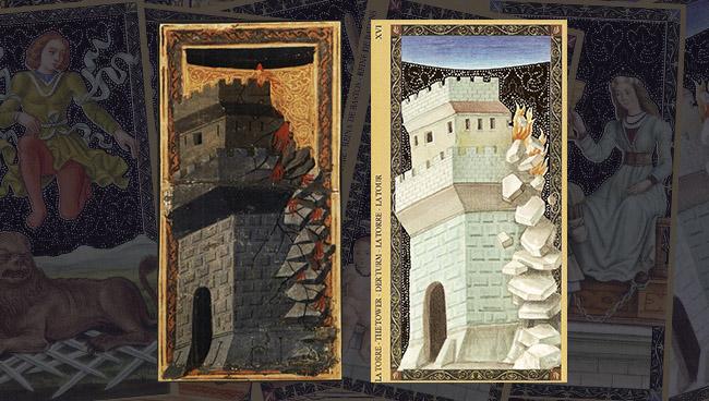 Золотое Флорентийское Таро Башня
