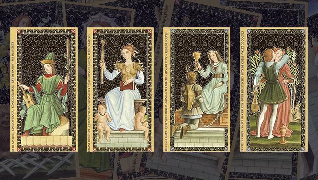 Золотое Флорентийское Таро Придворные карты