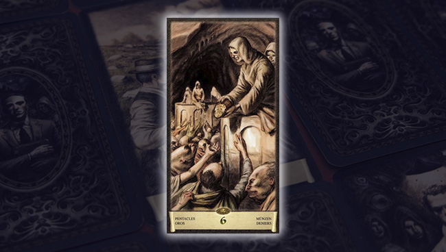 Таро Чёрный Гримуар 6 Пентаклей