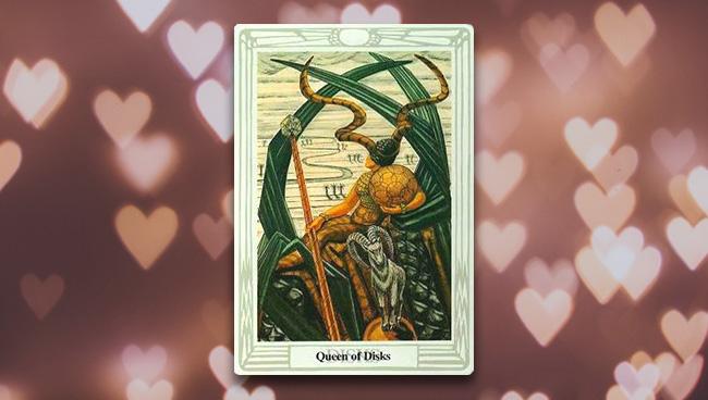 Королева Дисков Таро Тота в любви и отношениях