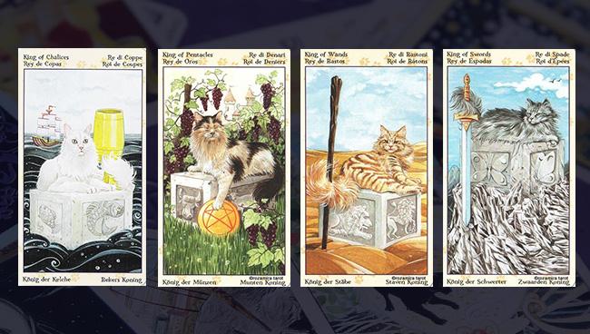 Таро Языческих Кошек придворные карты