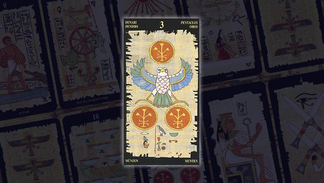 Египетское Таро 3 Пентаклей Монет