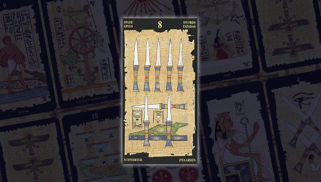 Египетское Таро 8 Мечей