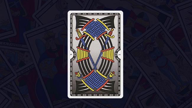 Марсельское Таро 10 Десятка Мечей