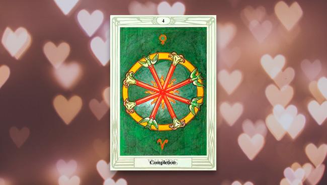 4 Жезлов Таро Тота в любви и отношениях