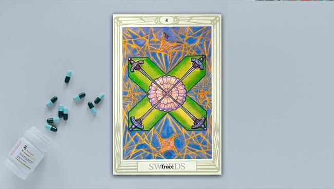 4 Мечей Таро Тота в вопросах здоровья