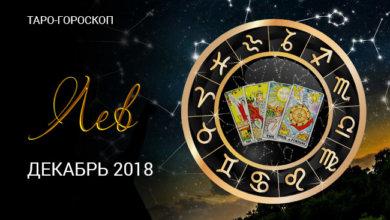 Таро-гороскопе Львам на декабрь 2018