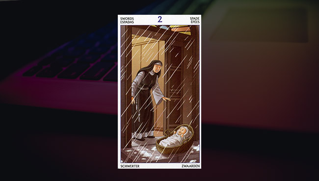 2 Мечей Таро 78 Дверей в работе