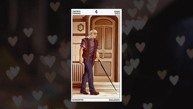 4 Мечей Таро 78 Дверей в любви, отношениях
