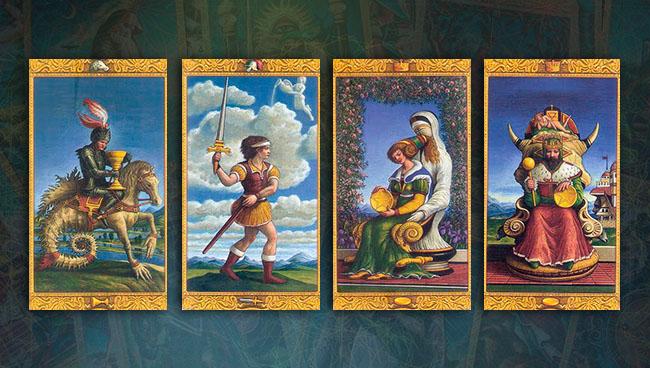 Мистическое Таро Придворные карты