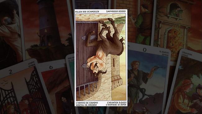 Рыцарь Мечей Таро 78 Дверей: значение прямой и перевёрнутой карты