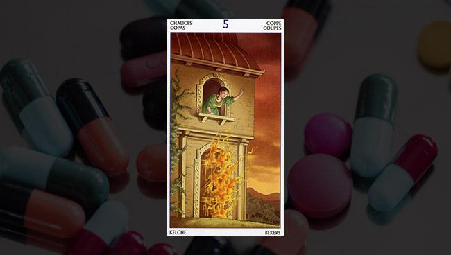 5 Кубков Таро 78 Дверей для гадания на вопросы здоровья