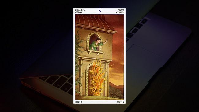 5 Кубков Таро 78 Дверей в работе и финансах