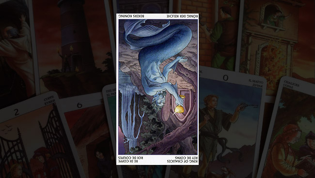 Король Кубков Таро 78 Дверей перевёрнутый