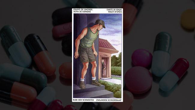 Таро 78 Дверей Паж Мечей в здоровье