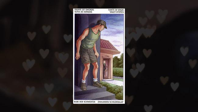 Таро 78 Дверей Паж Мечей в любви