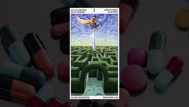 Таро 78 Дверей — Туз Мечей в здоровье