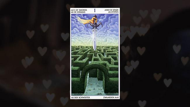 Таро 78 Дверей — Туз Мечей в любви