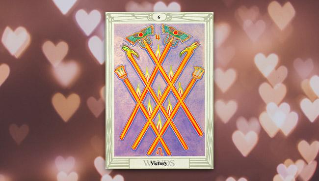 6 Жезлов Таро Тота в любви и отношениях