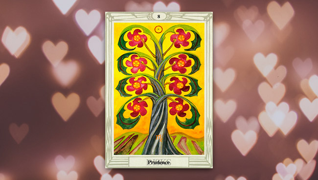 8 Дисков Таро Тота при гадании на отношения и любовь