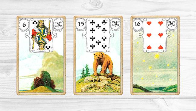 тройка Ленорман: Тучи-Медведь-Звёзд