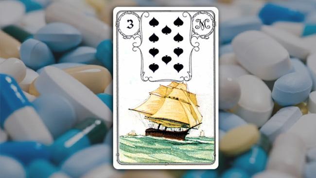 Корабль в картах Ленорман на вопросы здоровья