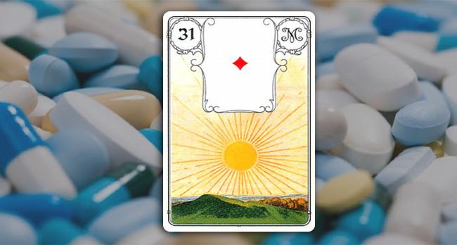 Солнце Ленорман в здоровье