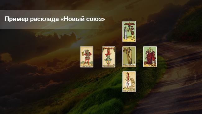 Пример расклада Таро «Новый союз»