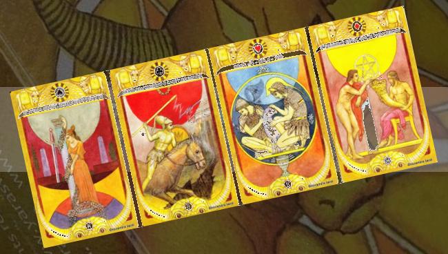 Придворные карты Таро Золотого Тельца