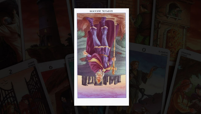 Король Жезлов Таро 78 Дверей в перевернутом значении