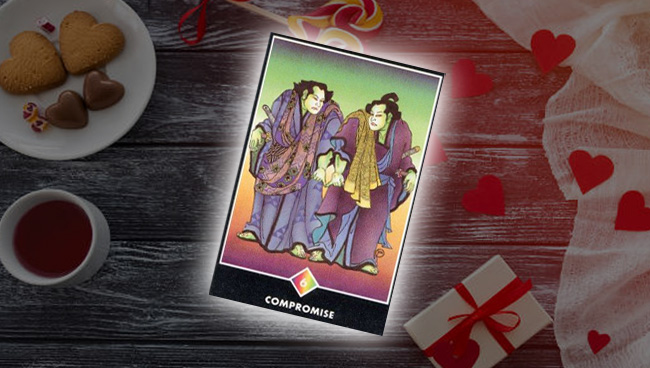 Шестёрка Радуги (Компромисс) Ошо Дзен Таро: значение в любви