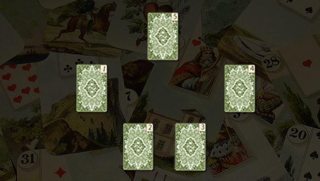 Расклад Ленорман Пять стихий схема